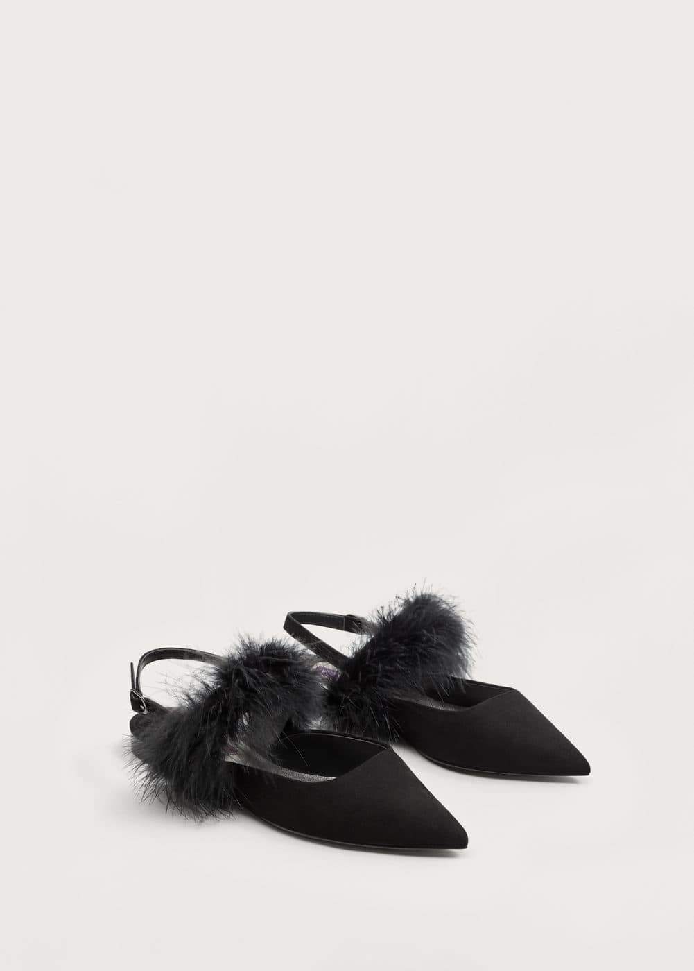 Fur leather shoes | VIOLETA BY MANGO