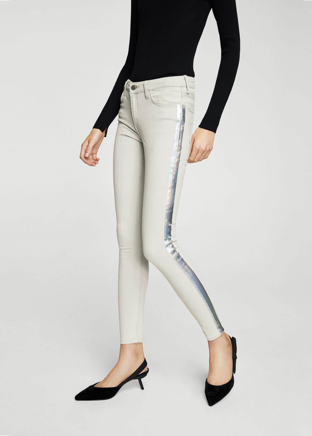 Metallic trims jeans | MANGO
