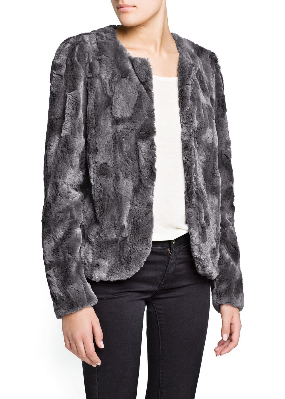 Faux fur jacket | MANGO