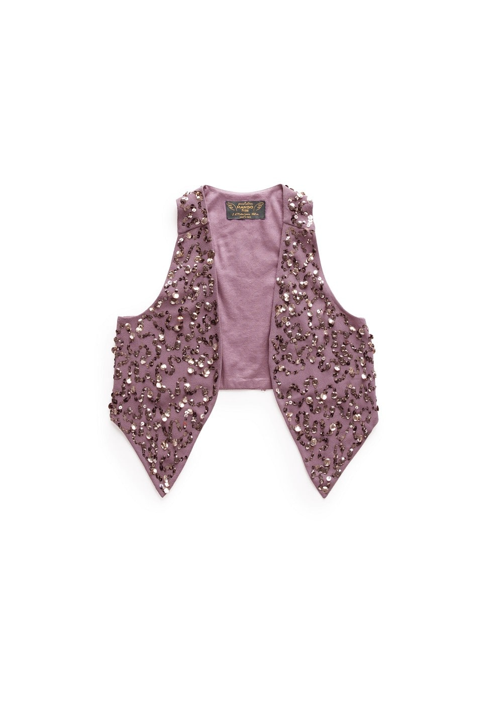 Sequined gilet | MANGO KIDS