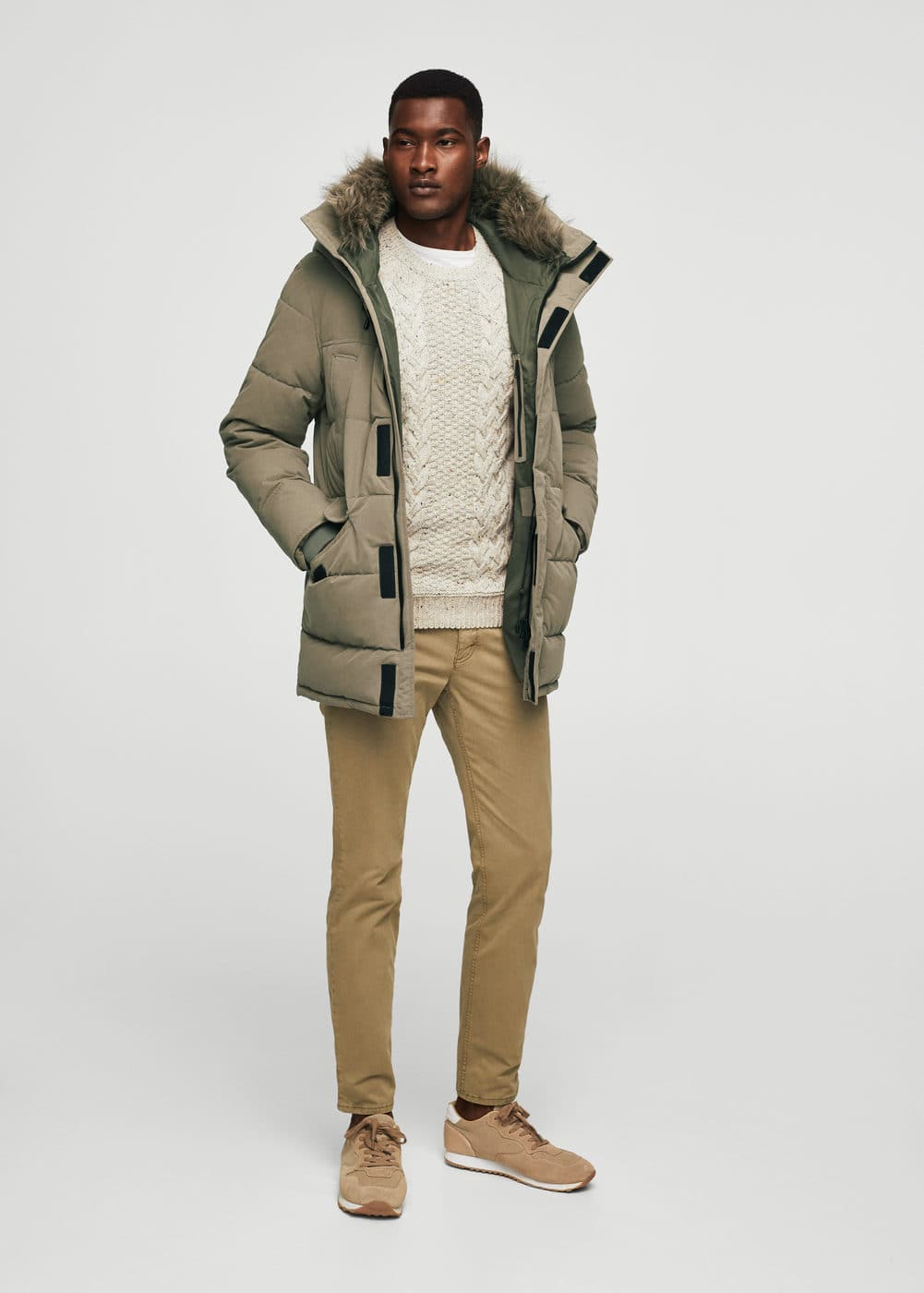 Hood quilted coat | MANGO MAN