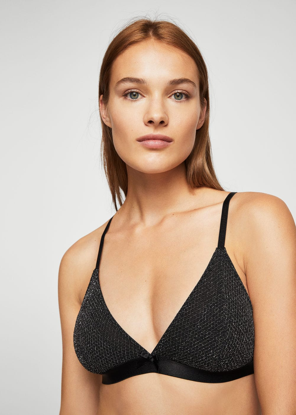 Metallic thread bra | MANGO