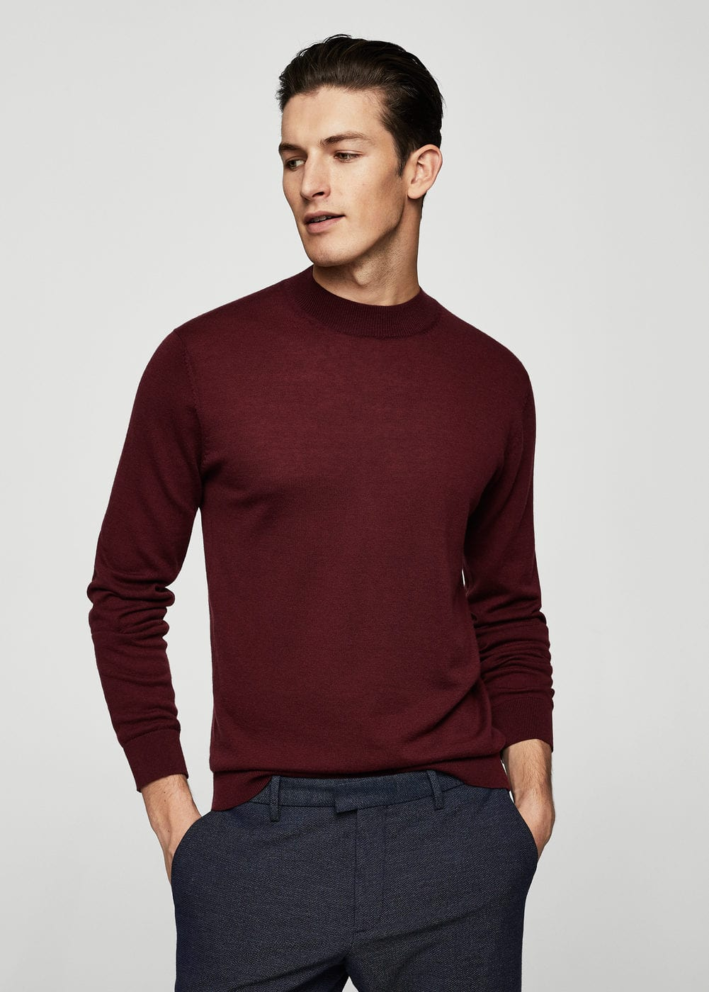 Cashmere wool-blend sweater | MANGO MAN