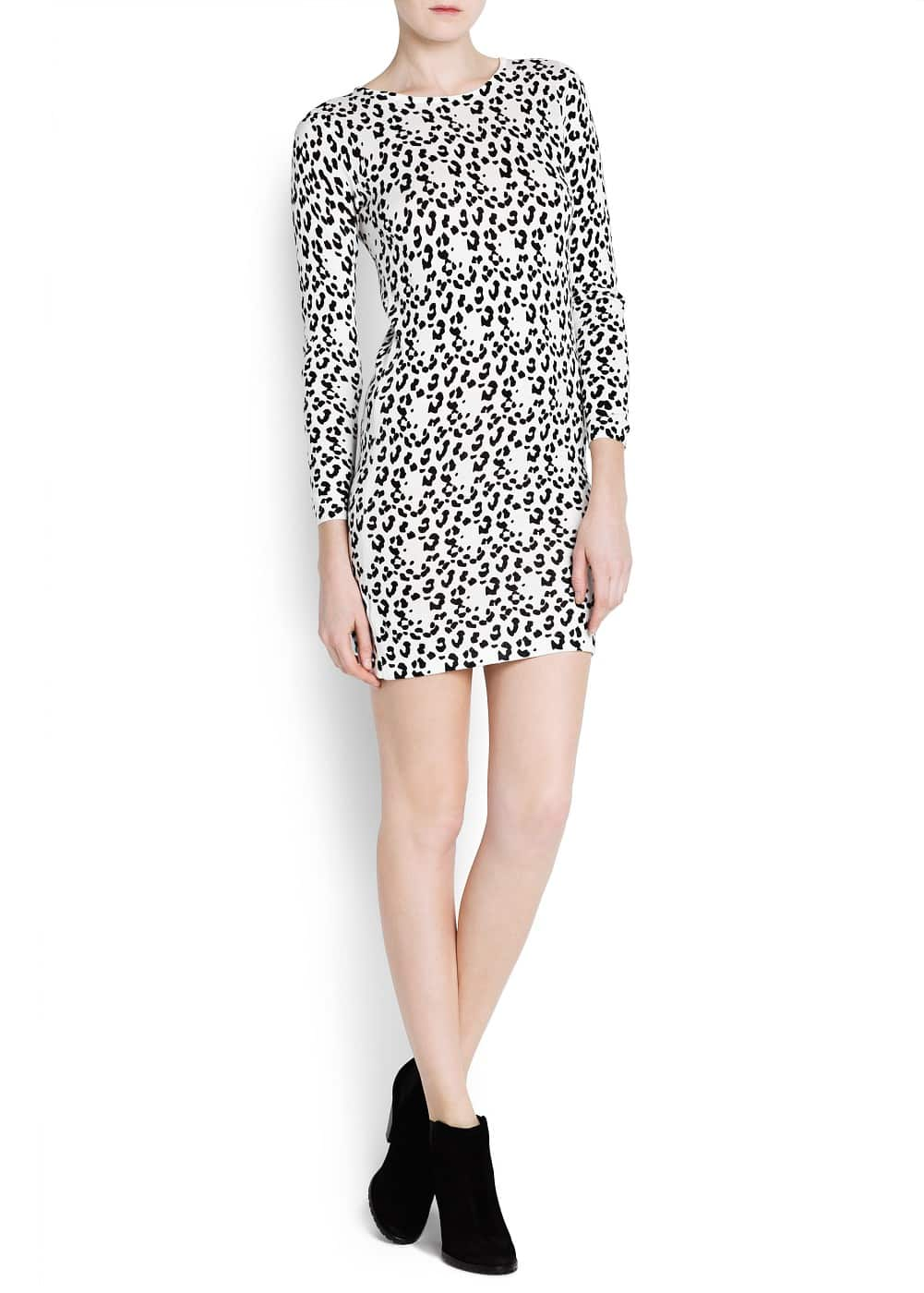 Animal print knit dress | MANGO