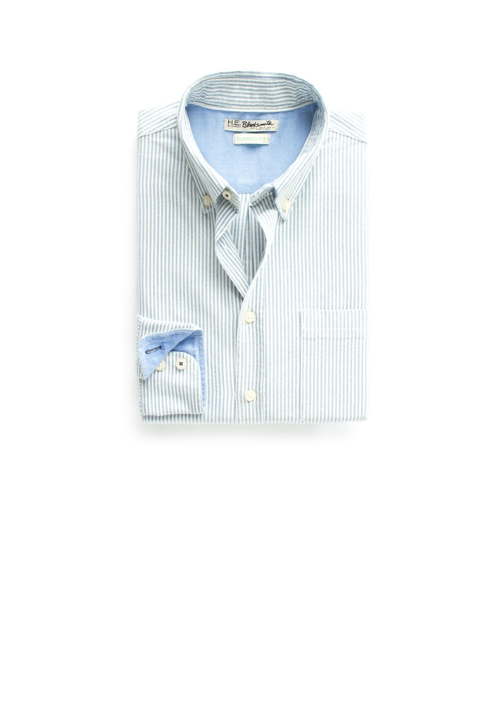 Straight-fit oxford striped shirt | MANGO