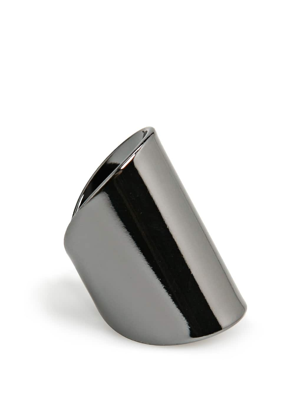 Wide metal ring | MANGO