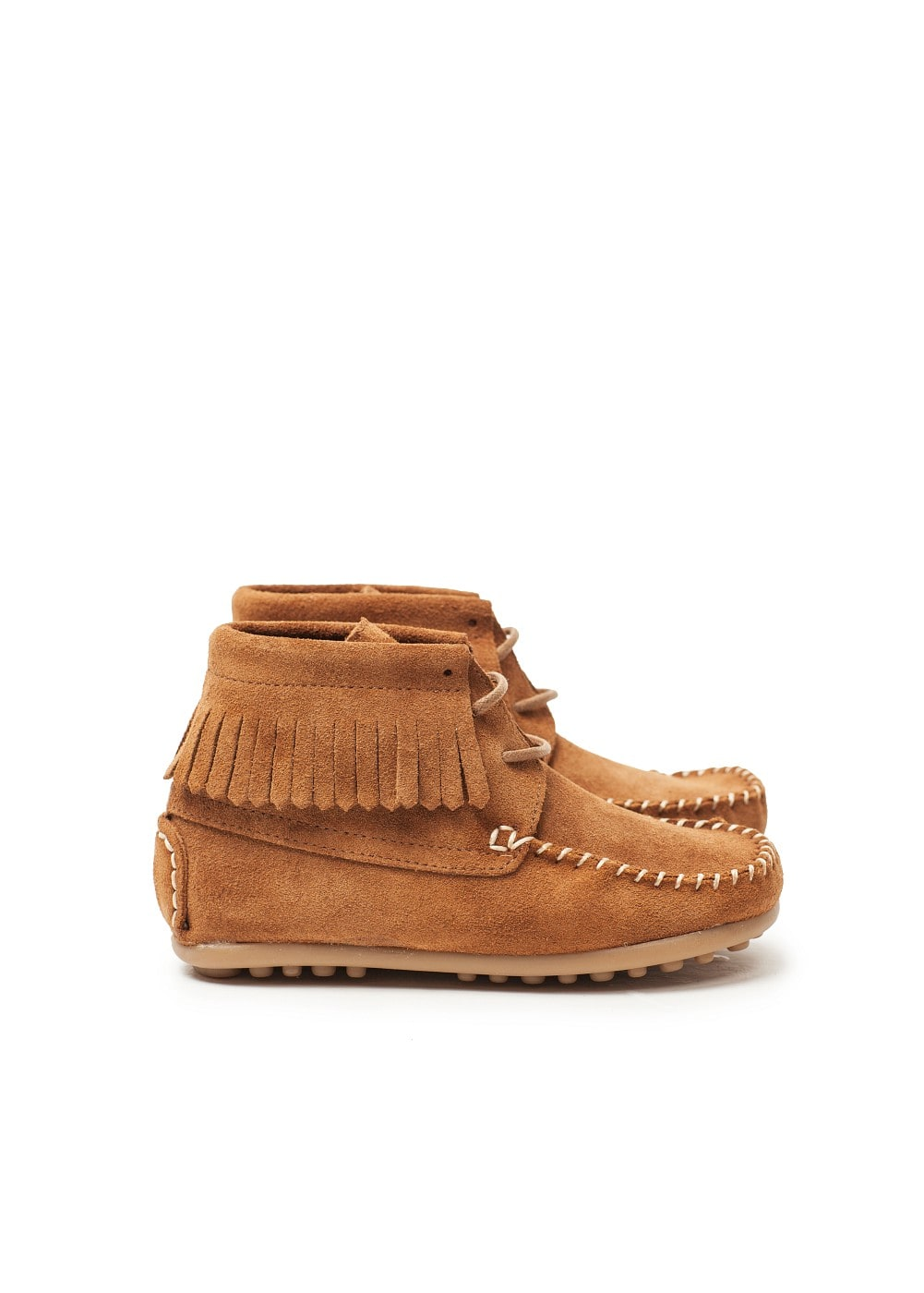 Fringed suede ankle boots | MANGO KIDS