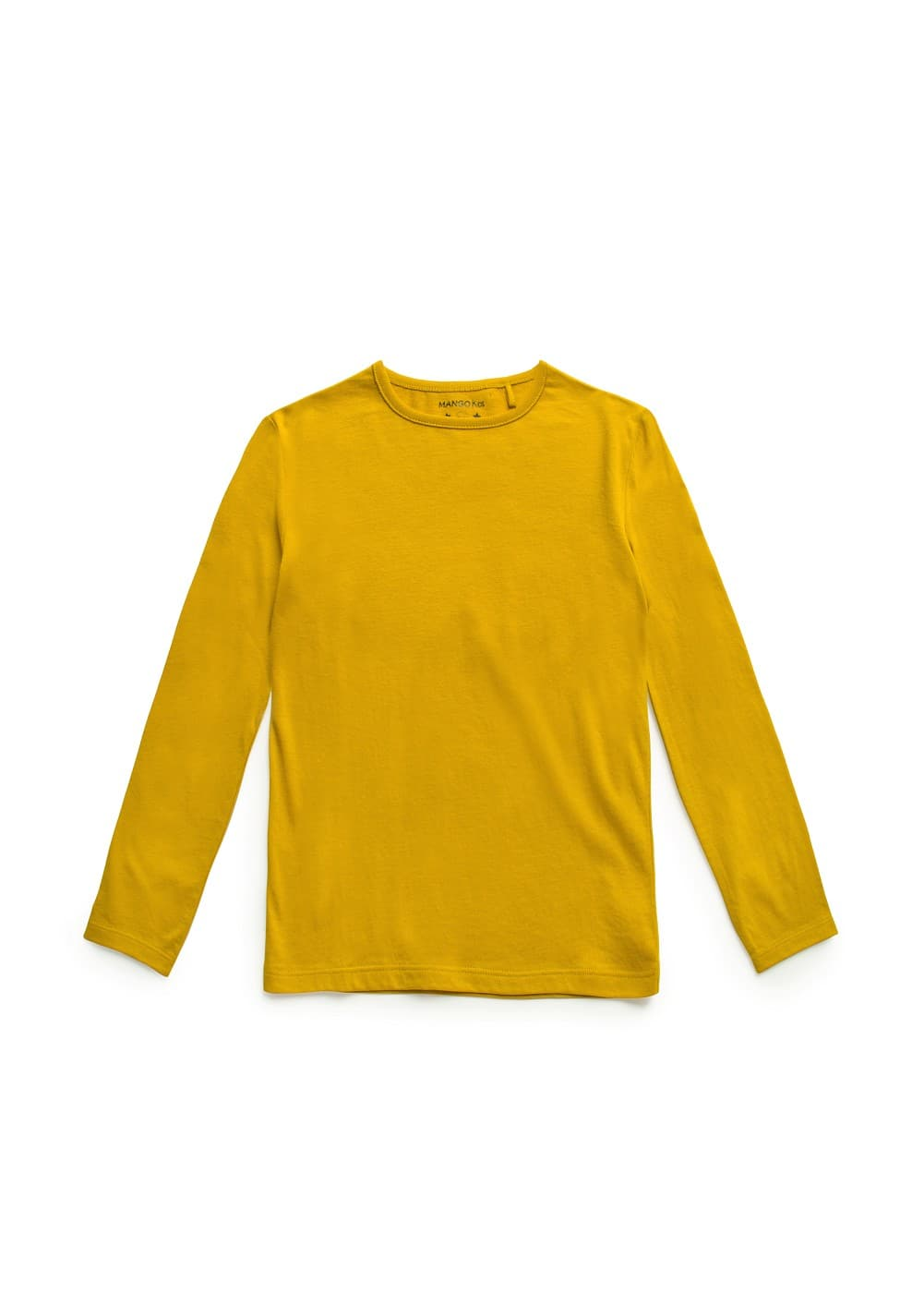 Long sleeved cotton t-shirt | MANGO KIDS