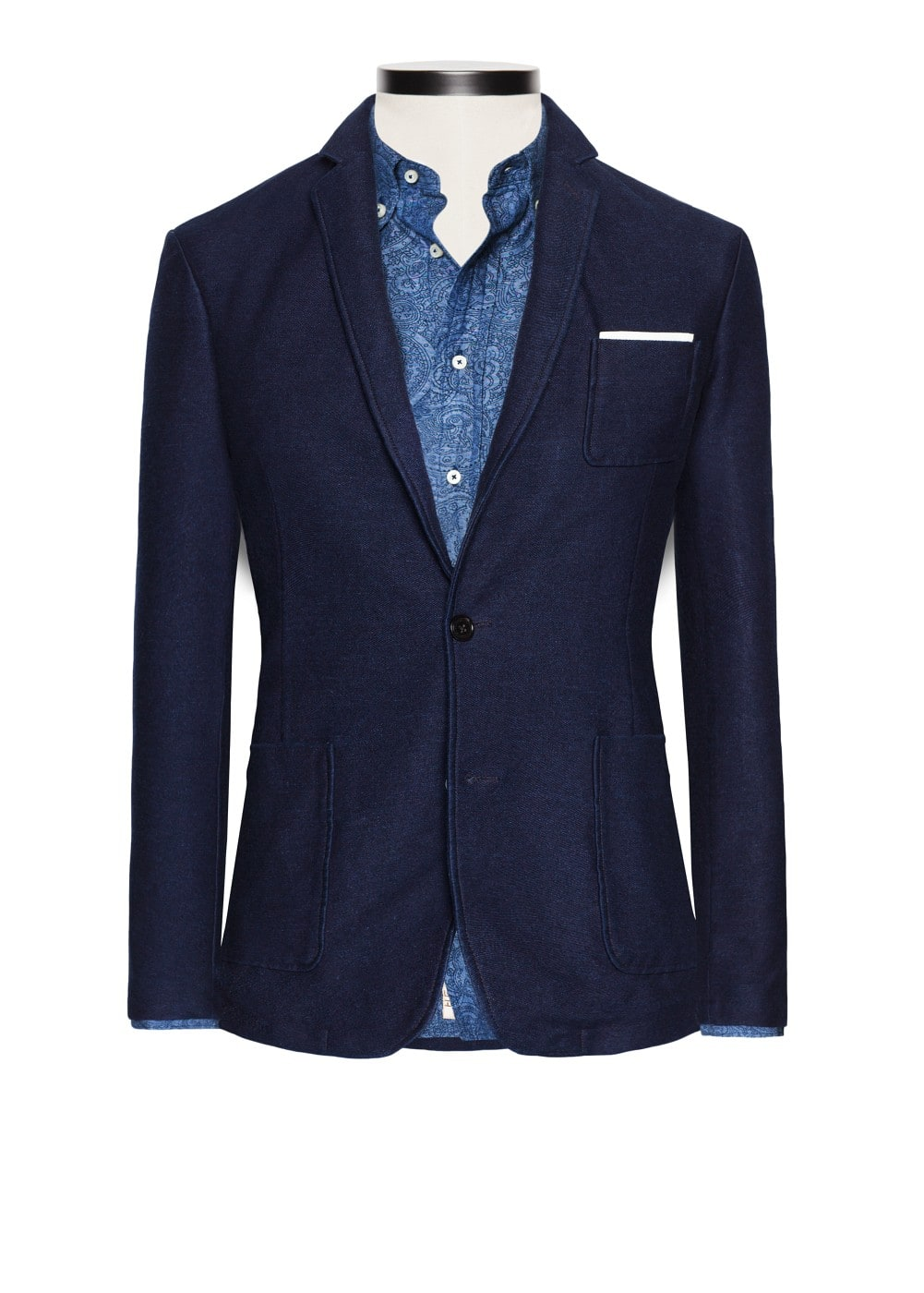 Denim effect cotton-blend blazer | MANGO
