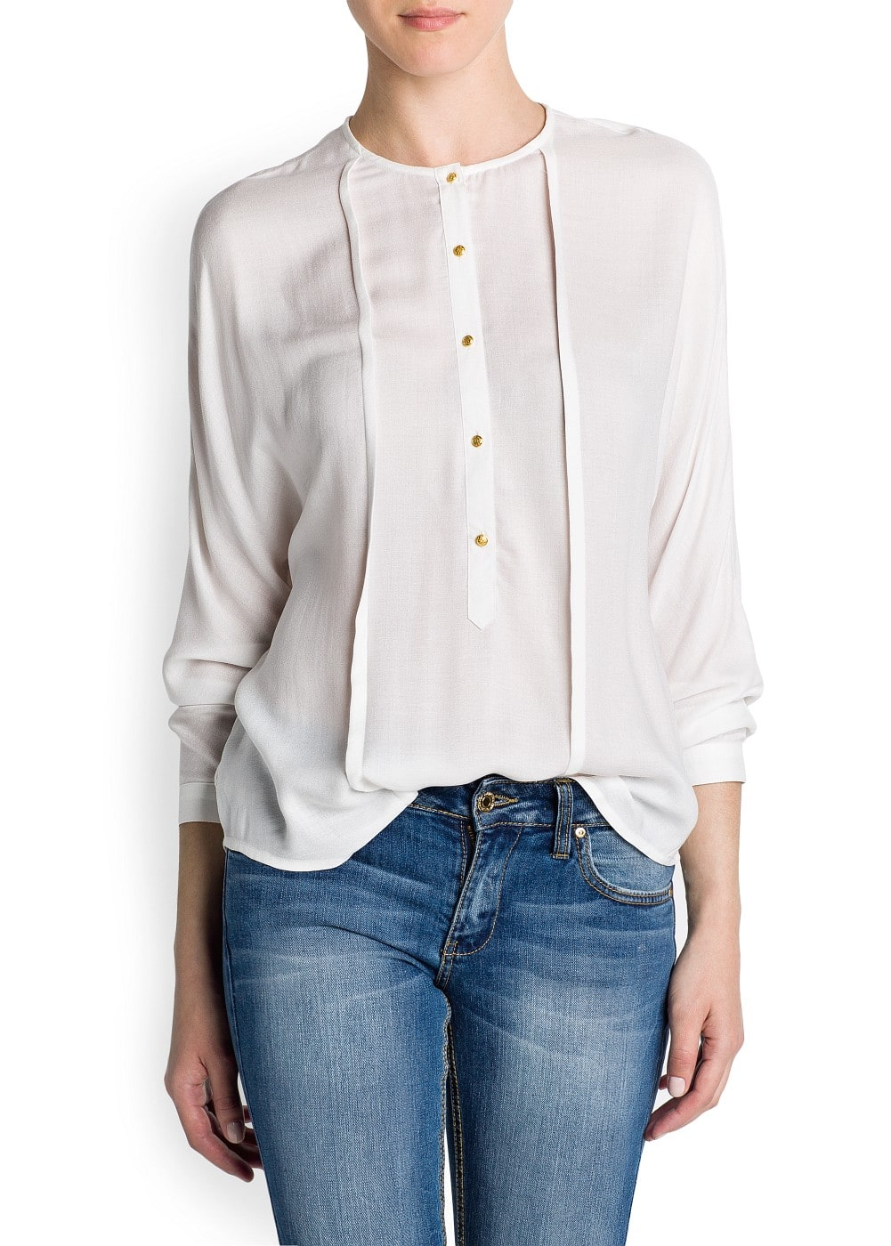 Pintuck details light blouse | MANGO