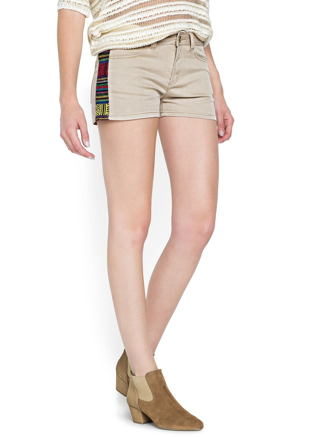 Ethnic cotton shorts | MANGO