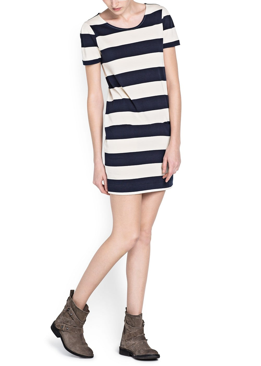 Straight-fit wide striped dress | MANGO