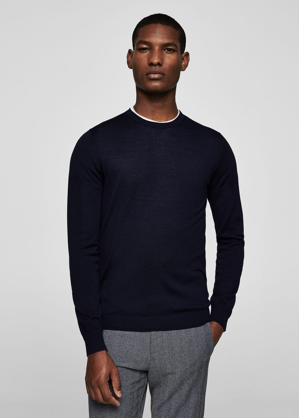 Ribbed wool-blend sweater | MANGO