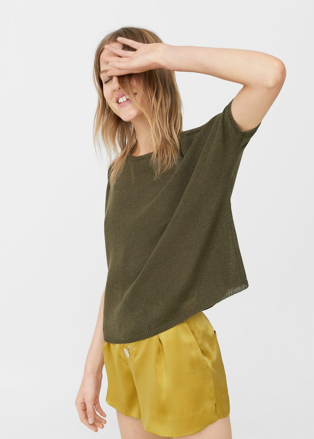 Cut-out jersey t-shirt | MANGO