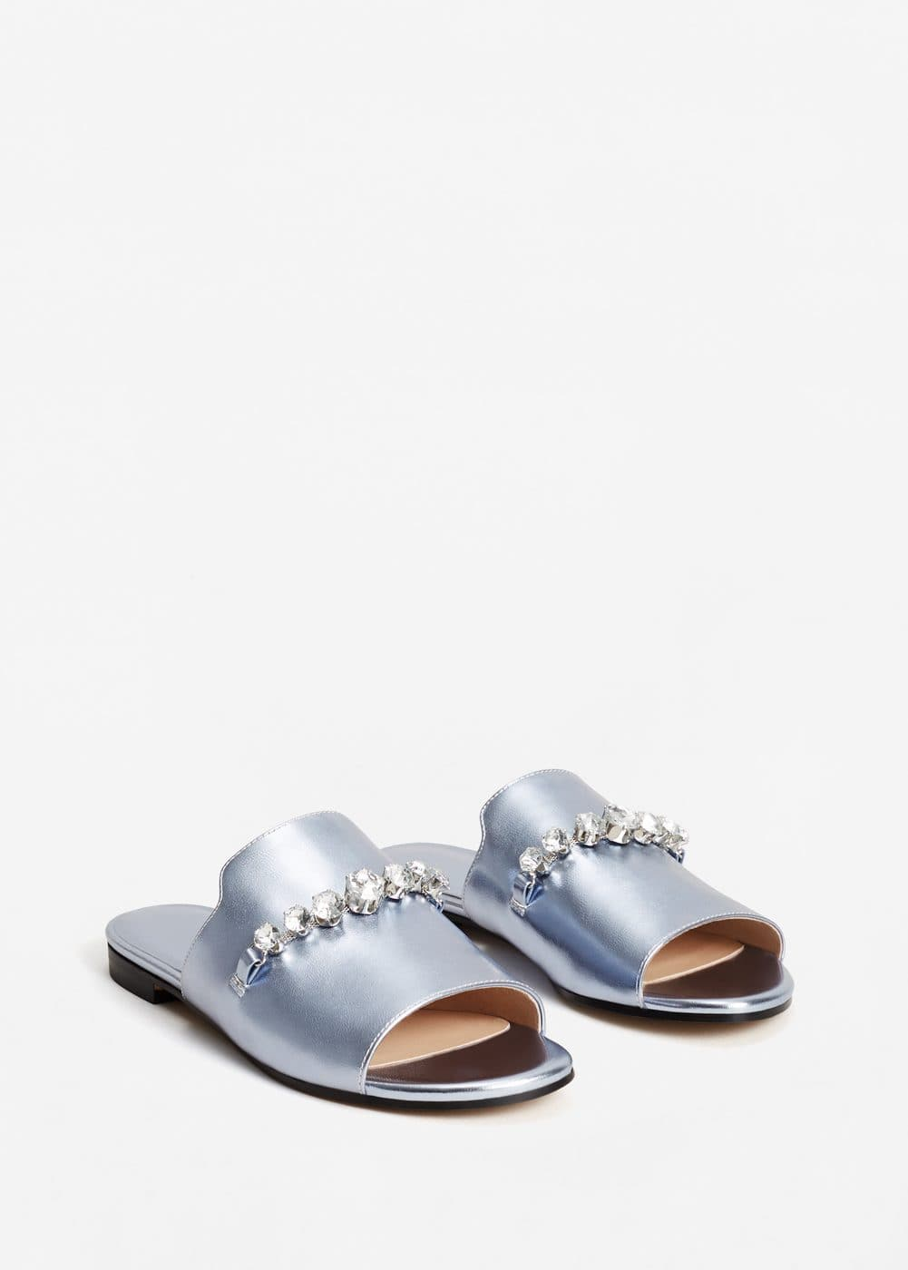 Crystal metallic sandals | MANGO