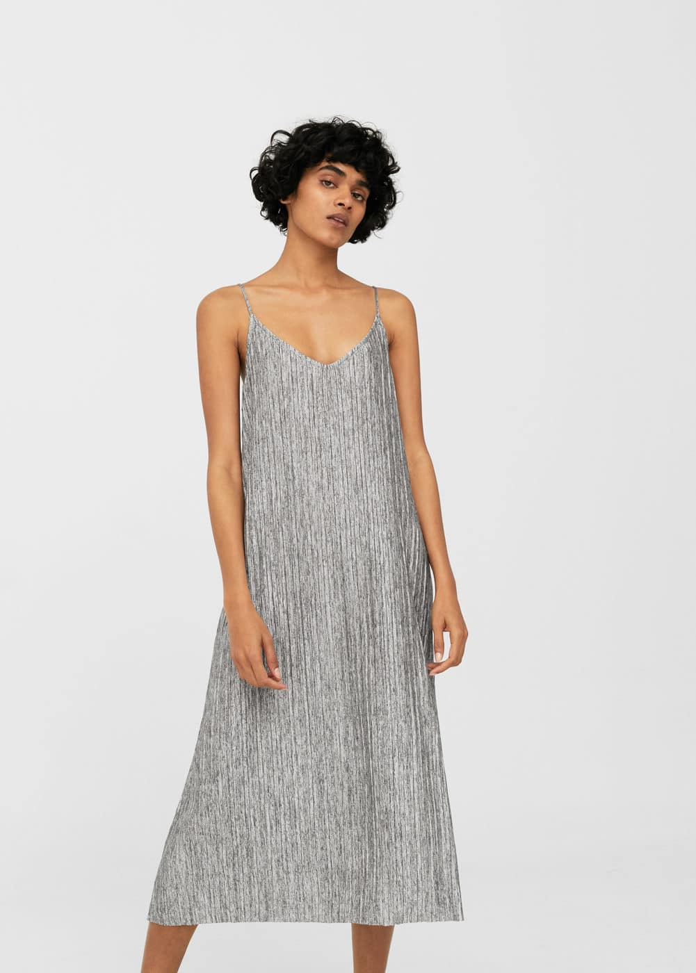 Flowy pleated dress | MANGO