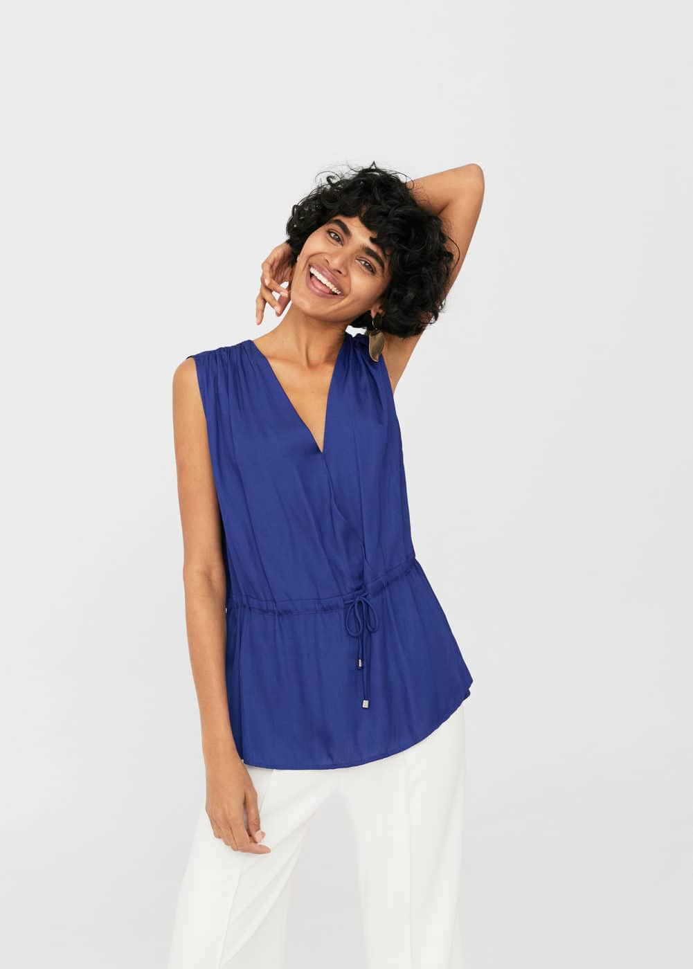 Adjustable cord blouse | MANGO