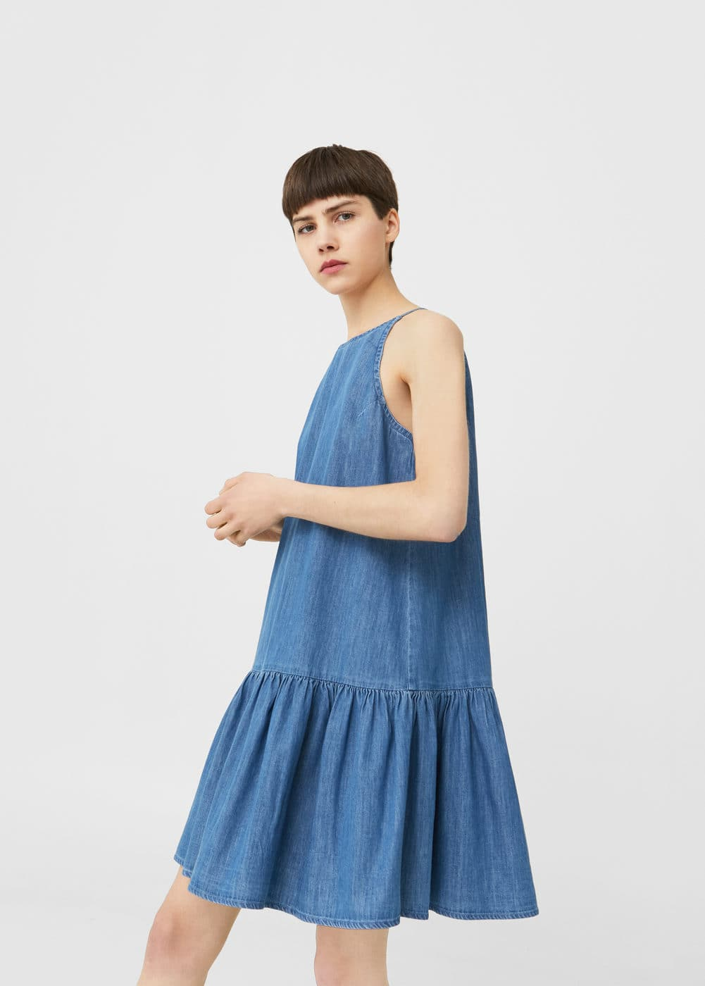 Robe denim volantée | MANGO