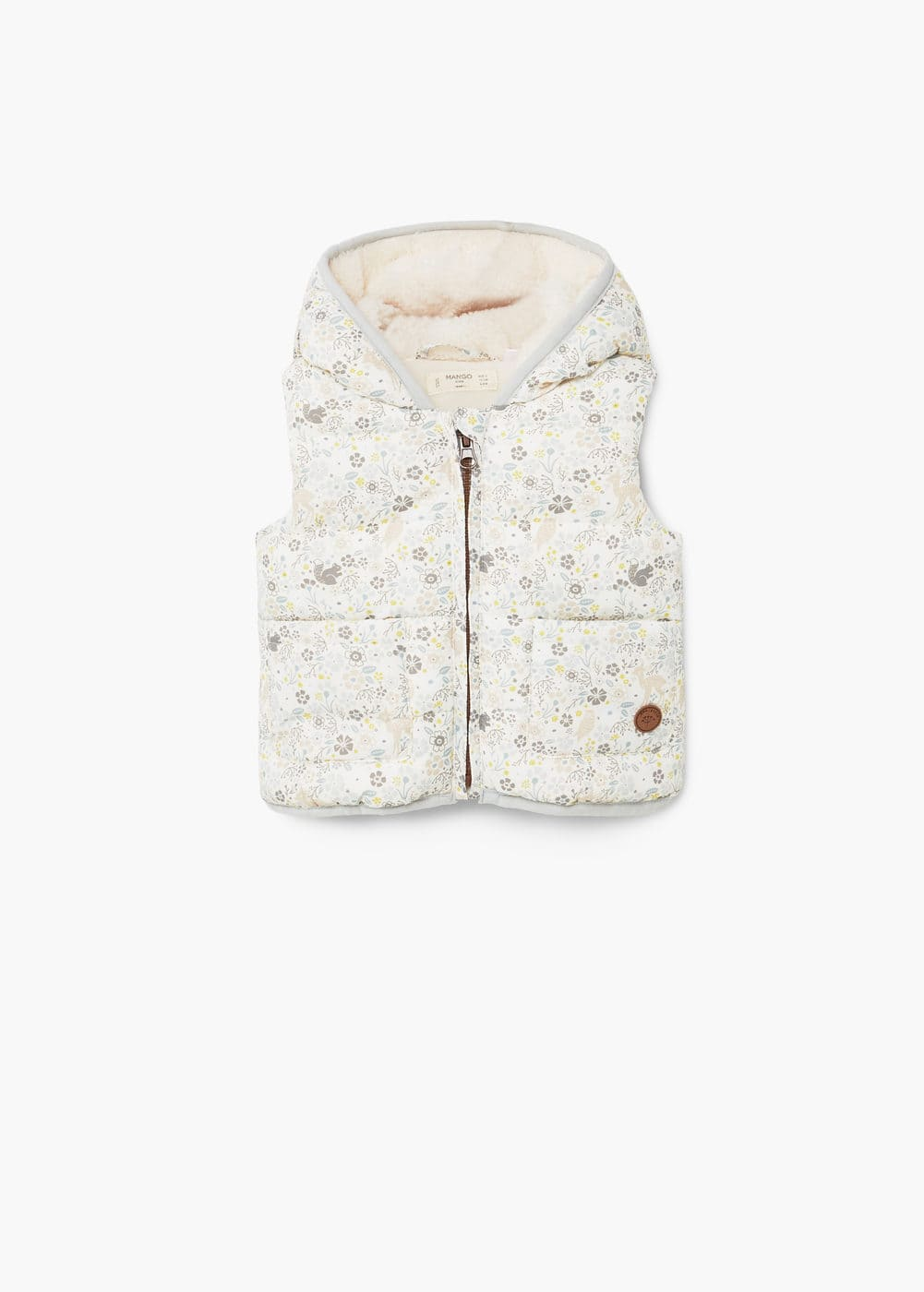 Printed quilted gilet | MANGO