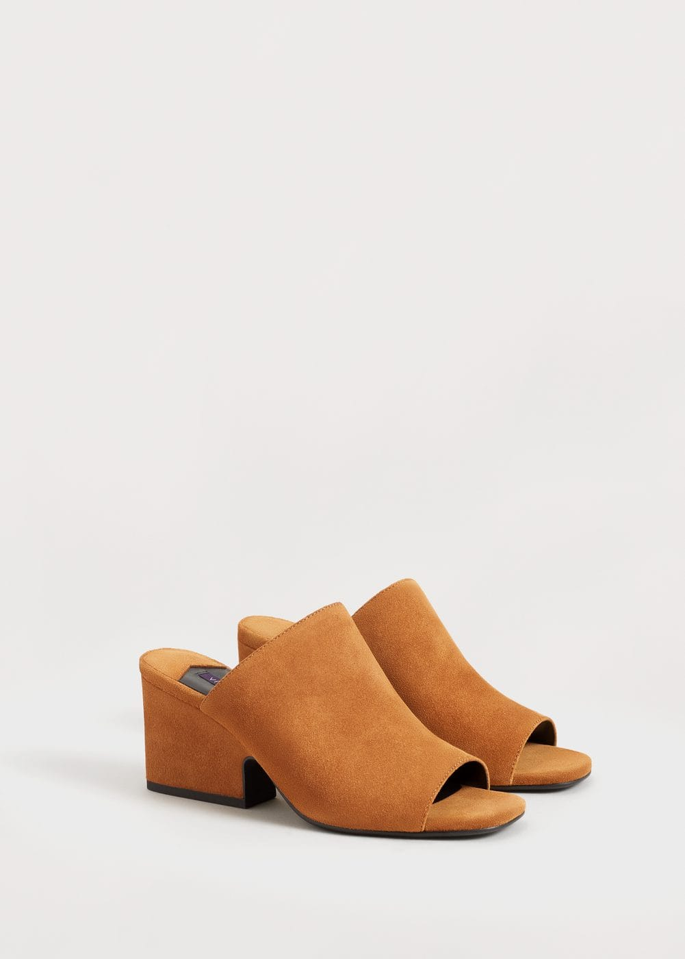 Heel leather shoes | VIOLETA BY MANGO
