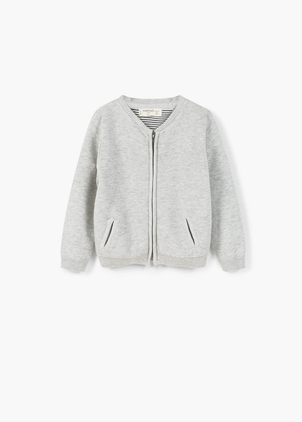 Zipped cotton cardigan | MANGO