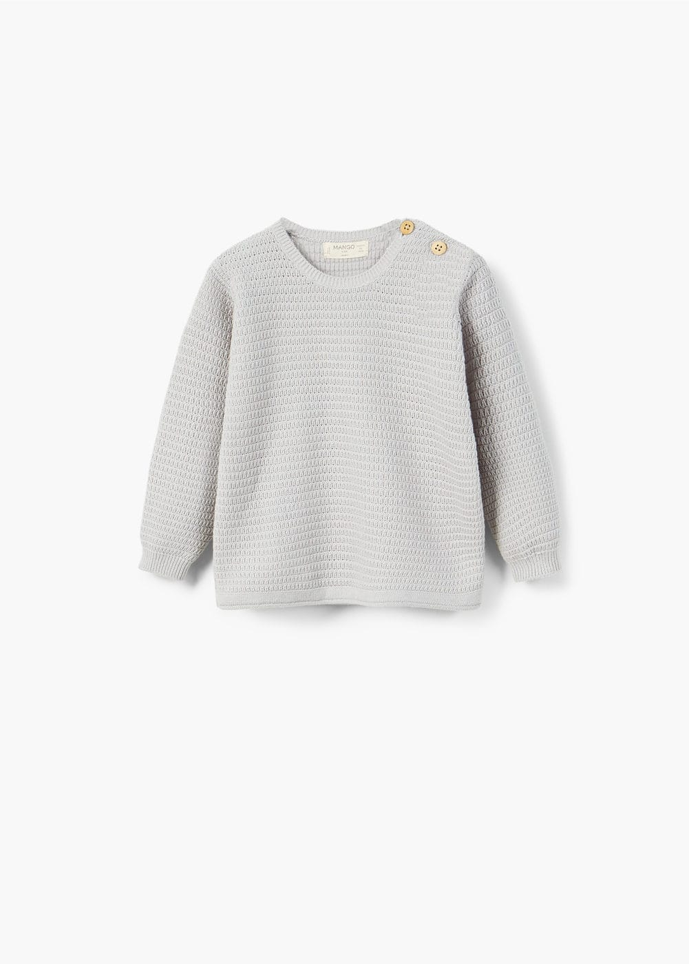 Elbow-patch cotton sweater | MANGO KIDS