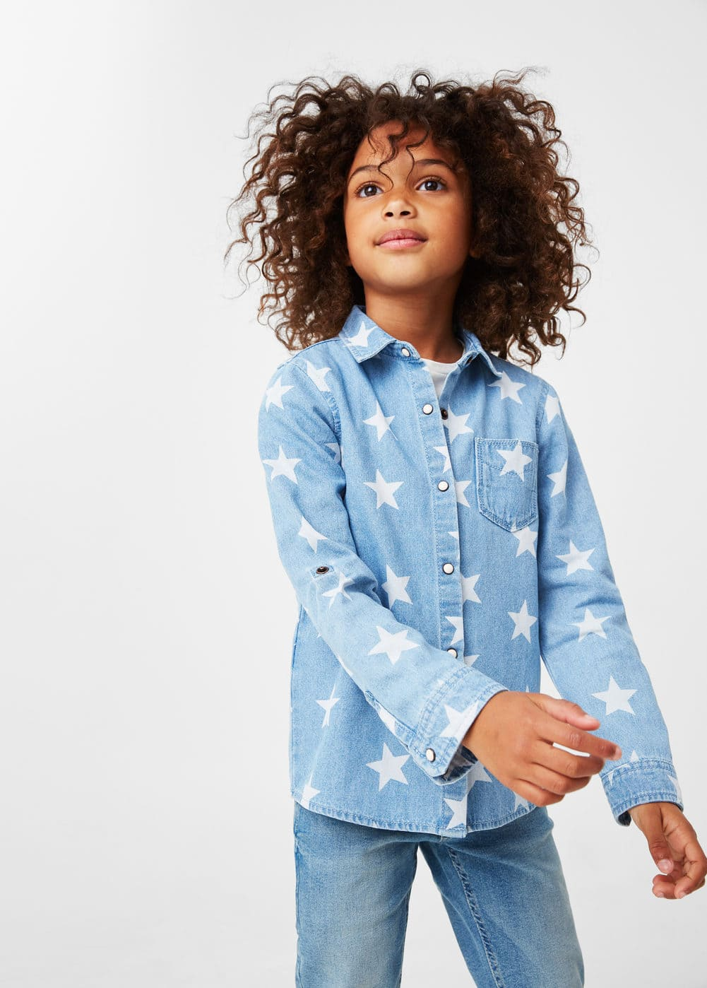Camisa texana estampada | MANGO KIDS