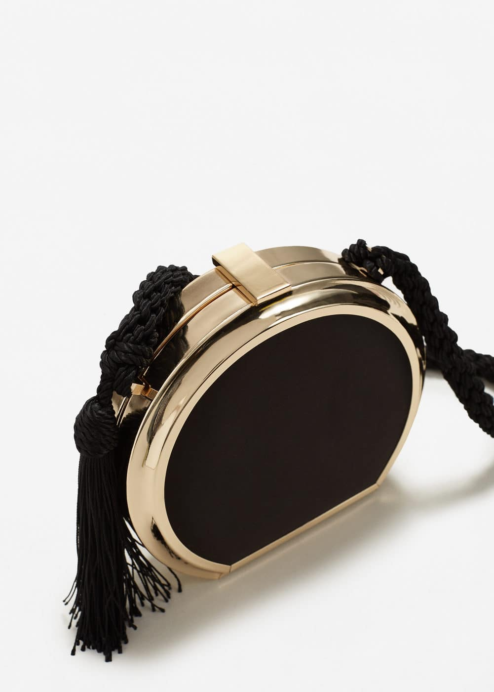Tassel satin box clutch | MANGO