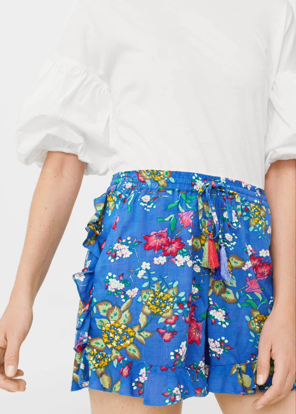 Short floral volantes | MNG