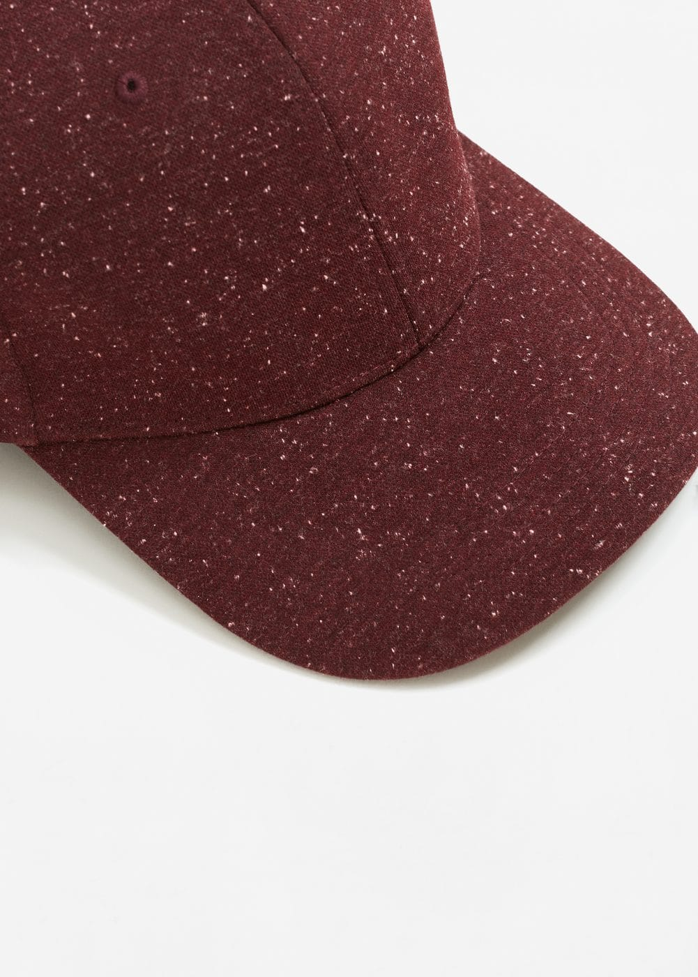 Flecked cotton-blend cap | MANGO