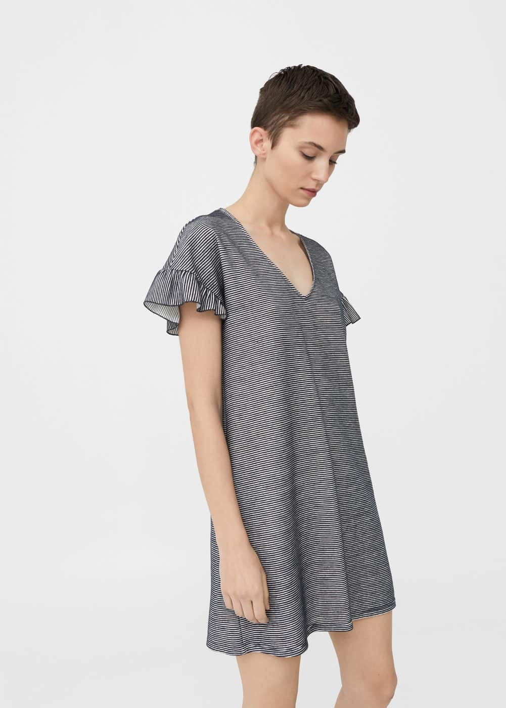Textured printed dress | MNG