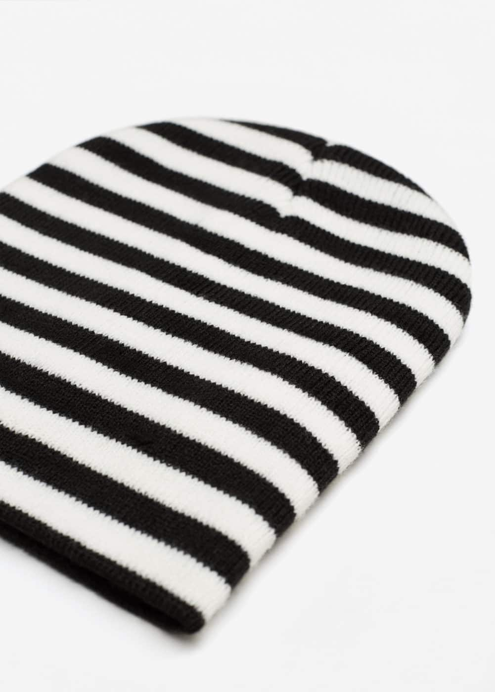 Striped beanie | MANGO