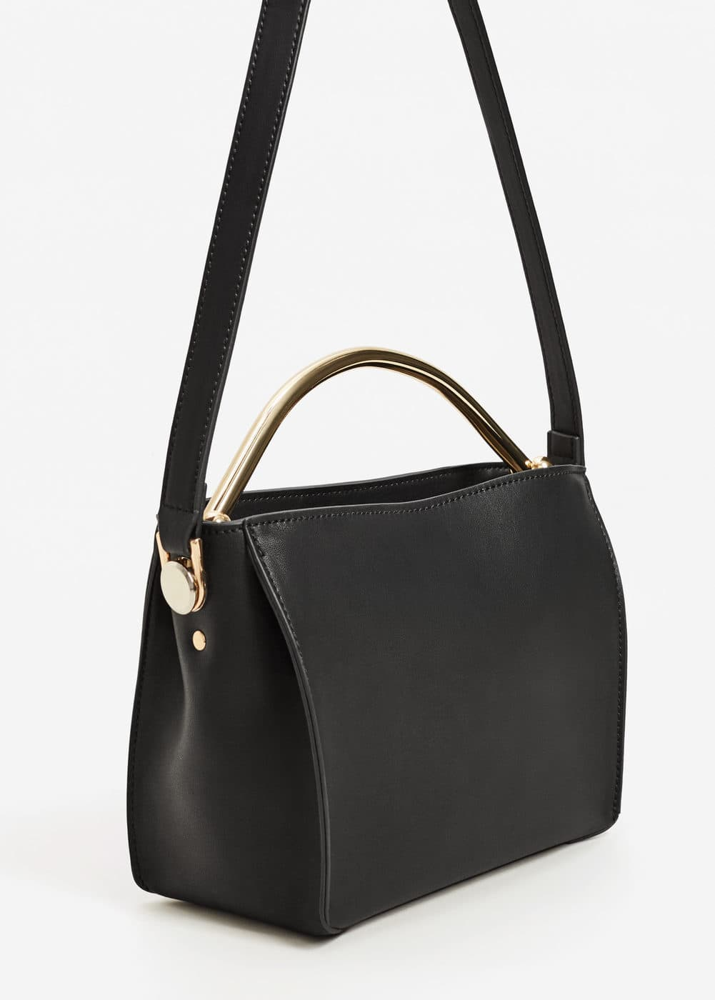 Metallic handle bag | MANGO
