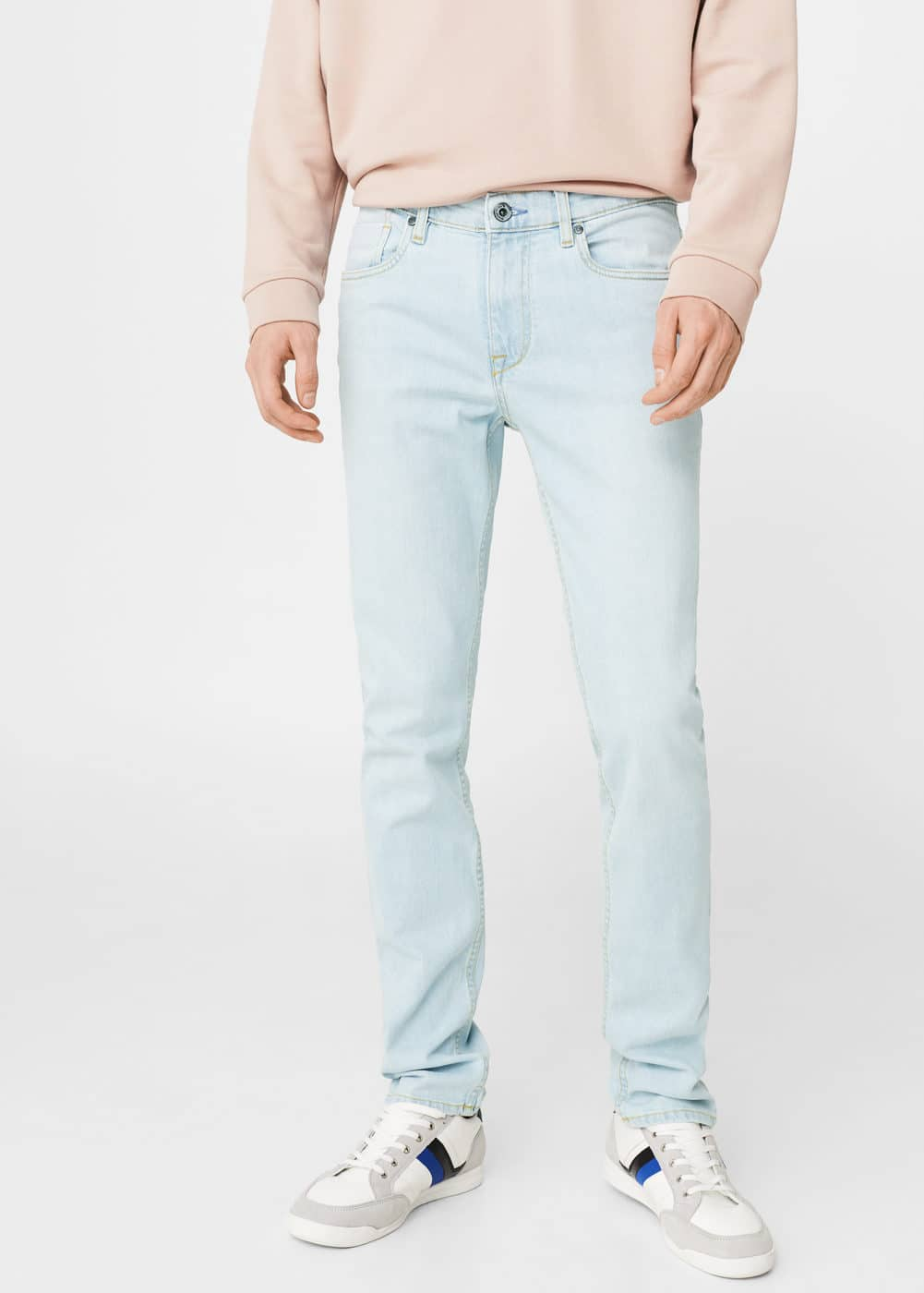 Slim-fit light wash jan jeans | MANGO
