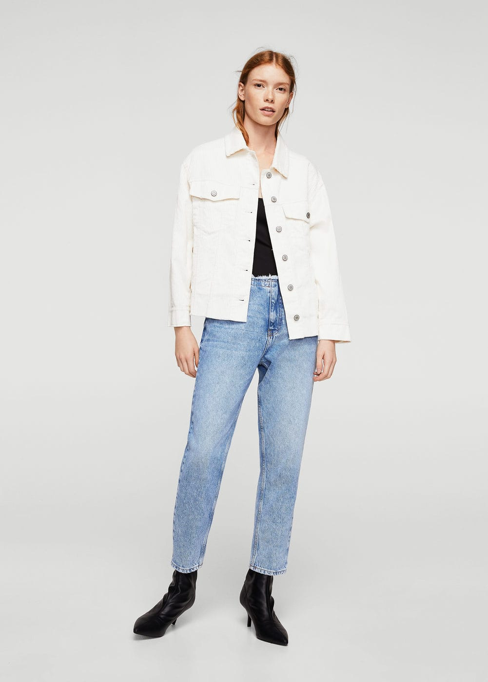 Jean straight crop wave | MANGO