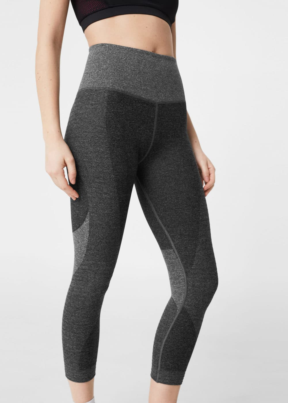 Flecked capri leggings | MANGO