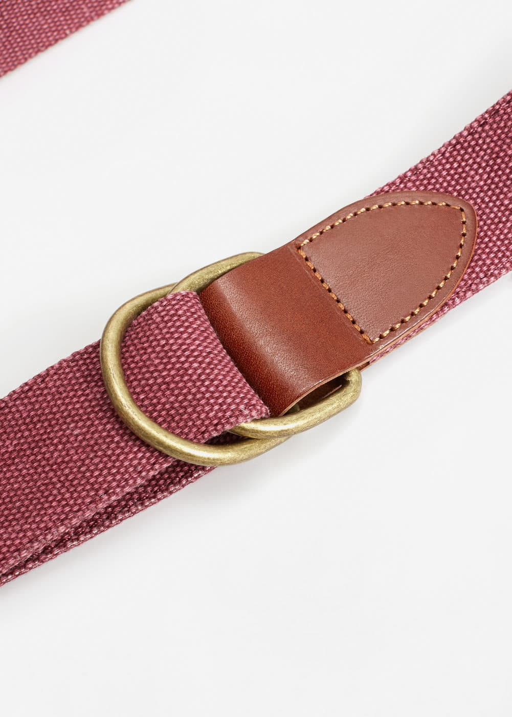 Leather-appliqué elastic belt | MANGO MAN