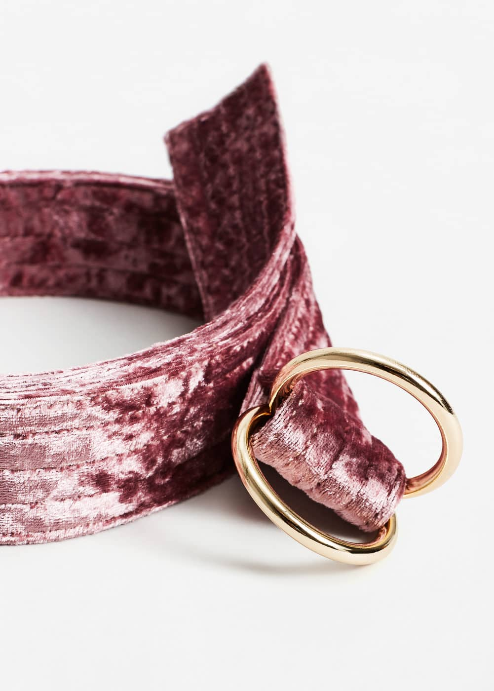 Buckle velvet belt | MANGO