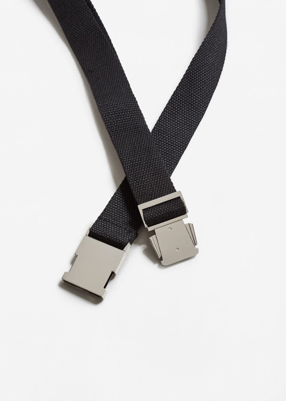 Metal fastening belt | MANGO MAN