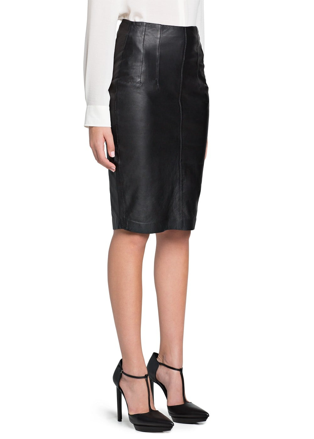 Leather pencil skirt | MANGO