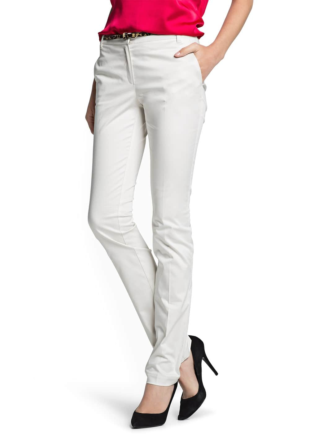 Straight-fit cotton trousers | MANGO