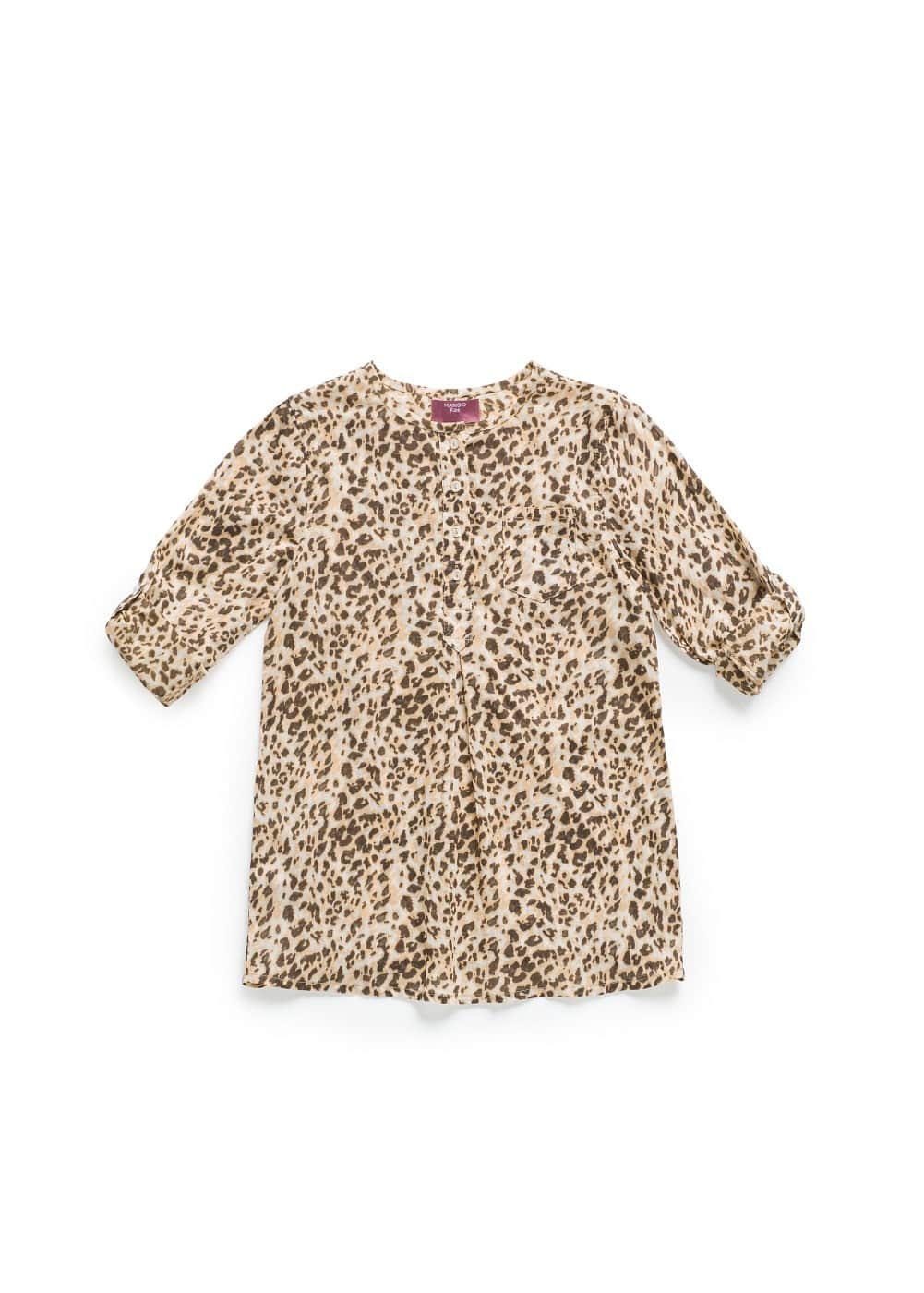 Printed cotton blouse | MANGO KIDS