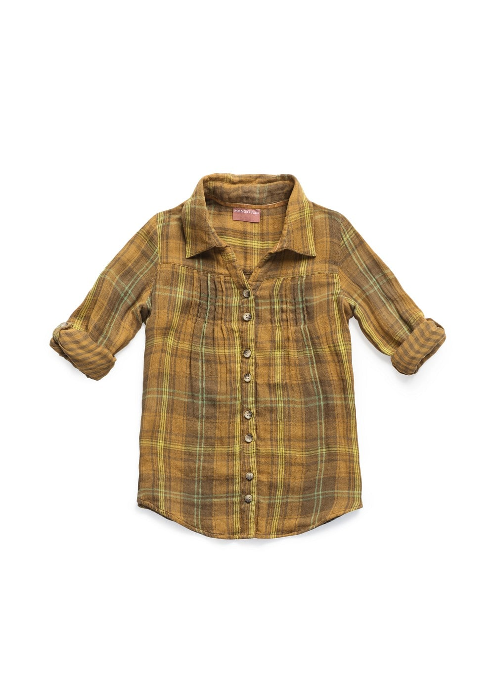 Checked long sleeved shirt | MANGO KIDS