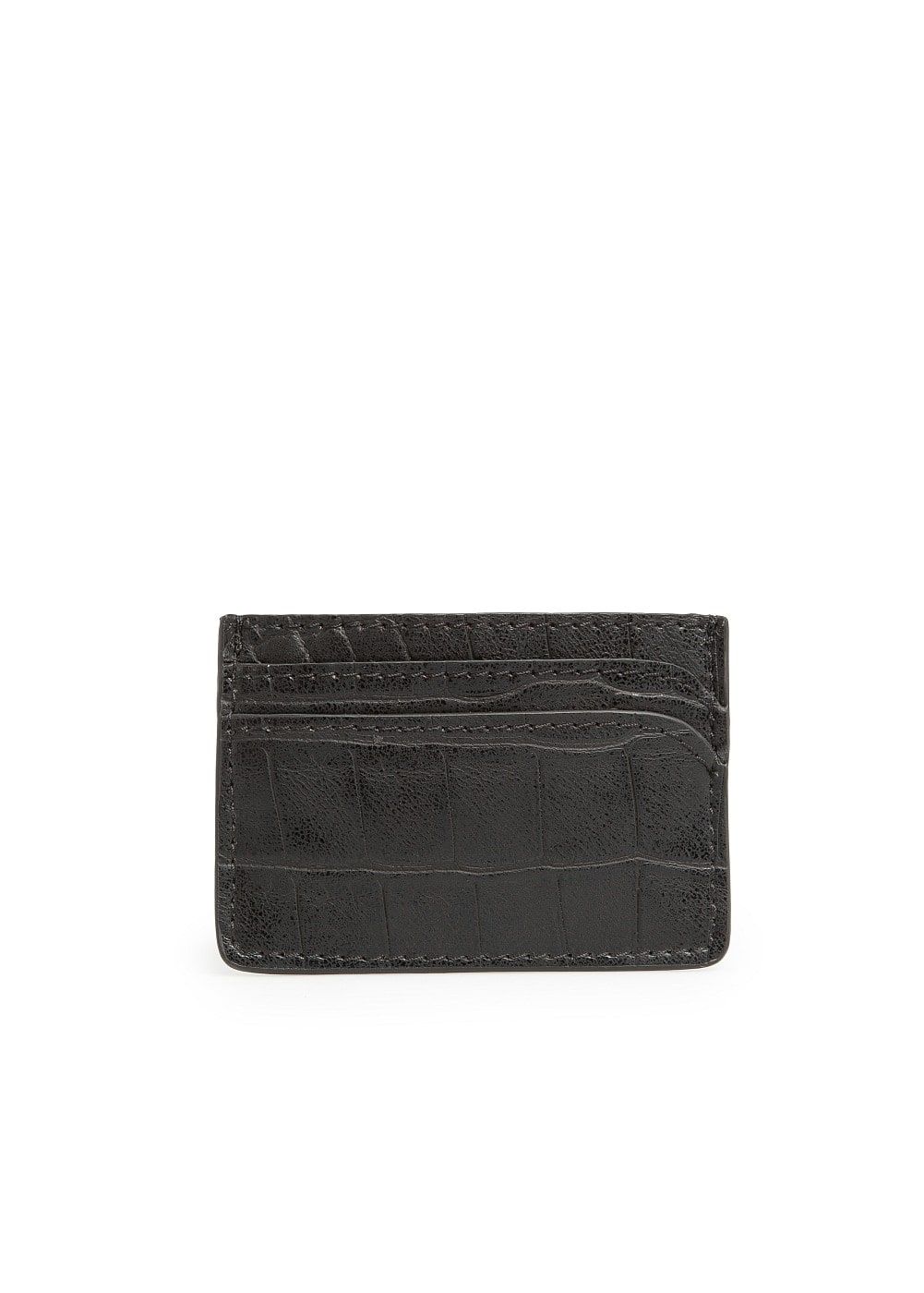 Croc effect card holder | MANGO
