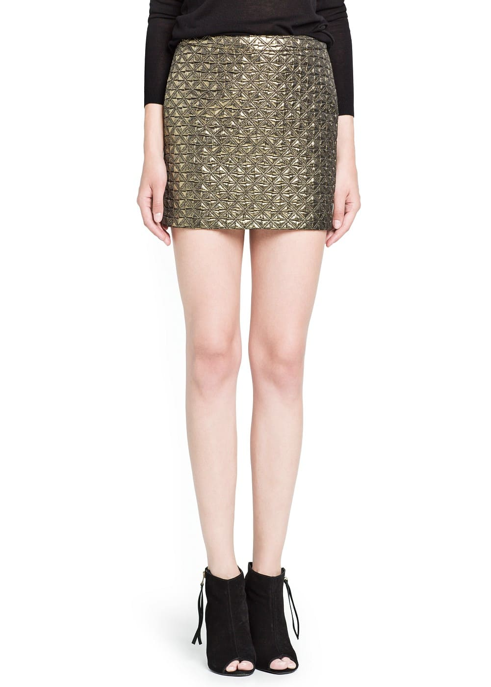 Metallic jacquard skirt | MANGO