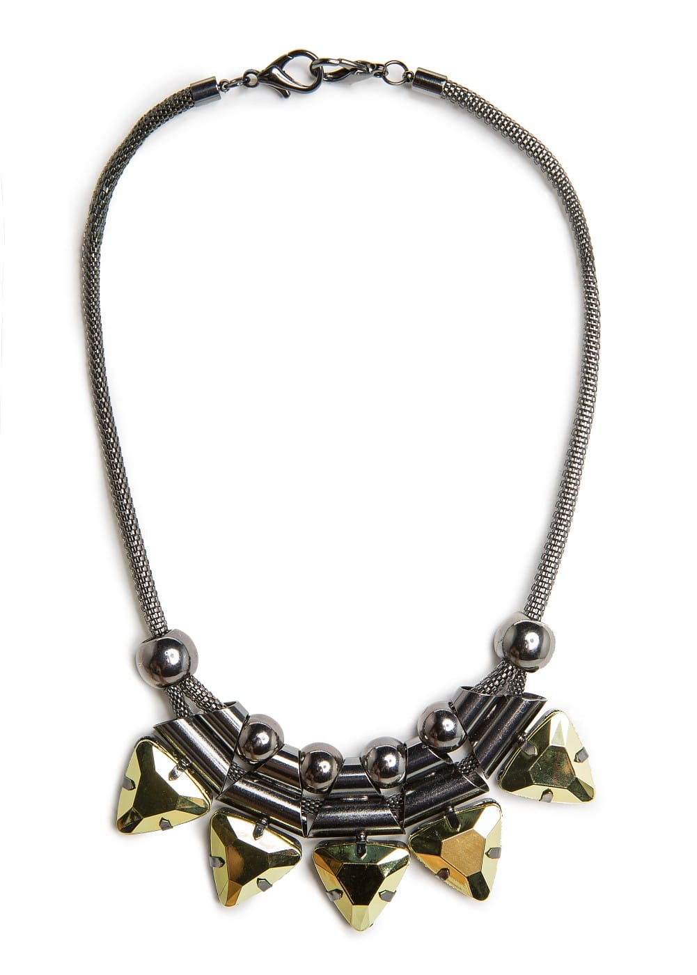 Metal pieces necklace | MANGO