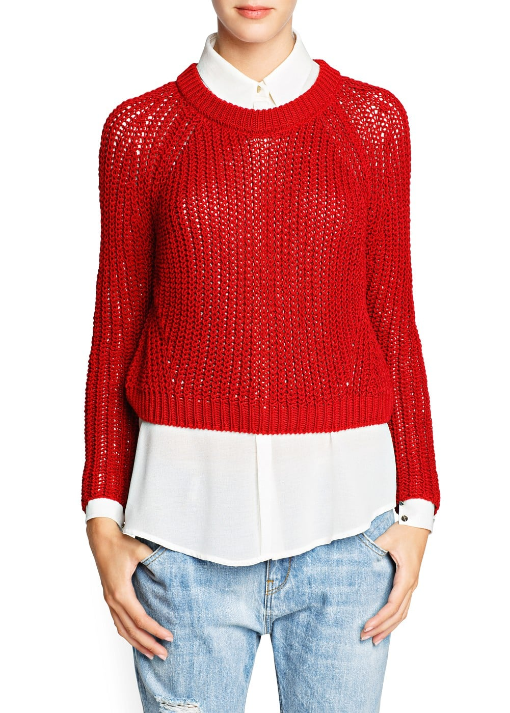 Chunky knit cropped sweater | MANGO