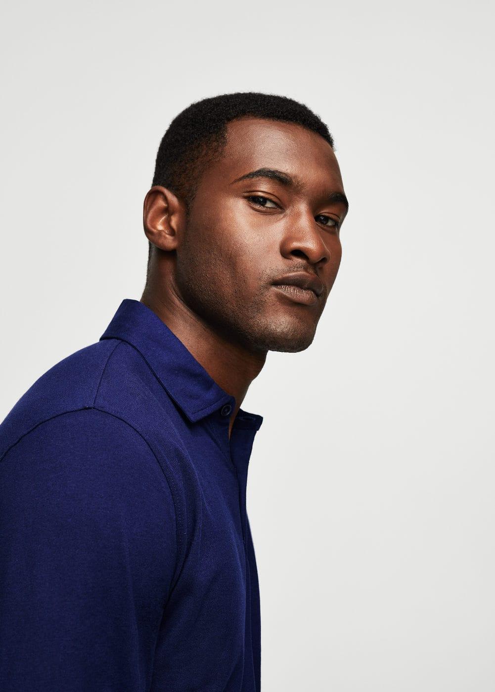 Cotton basic polo shirt | MANGO MAN