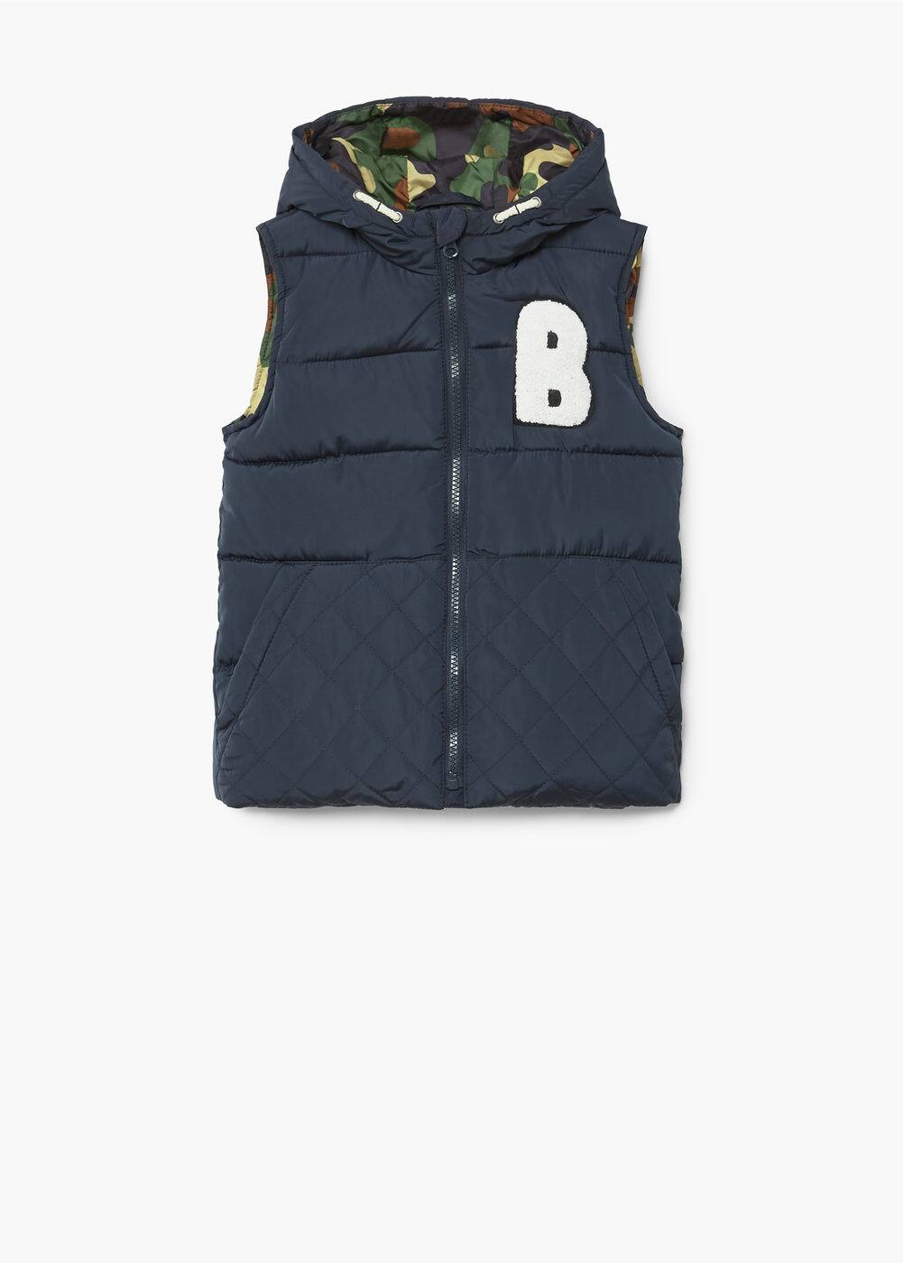 Hooded quilted gilet | MANGO KIDS