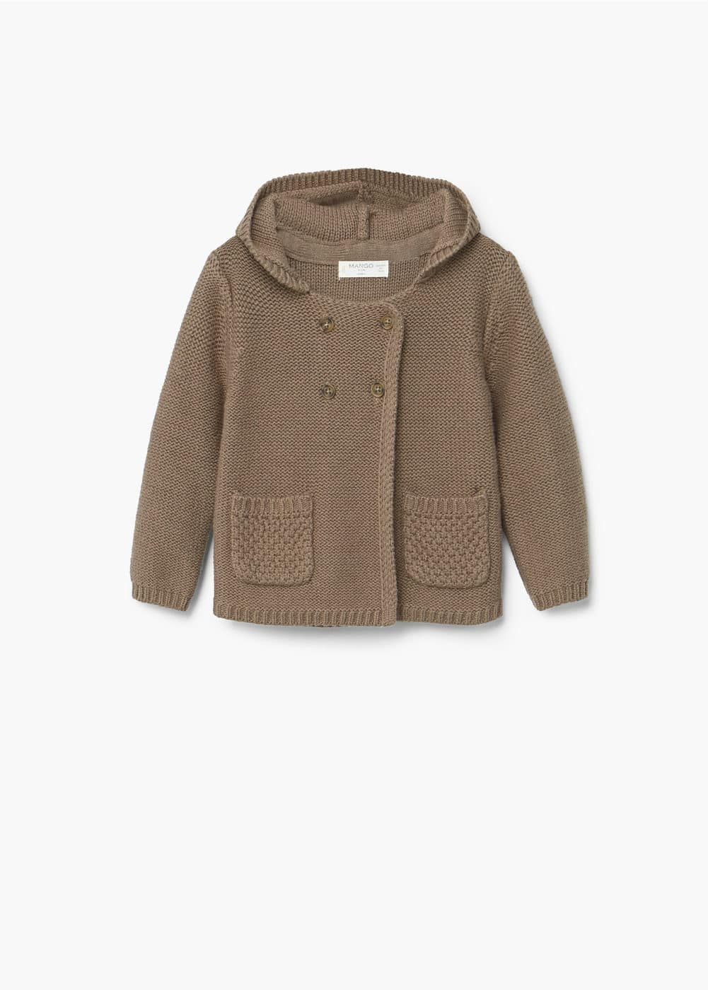 Pocket wool-blend cardigan | MANGO